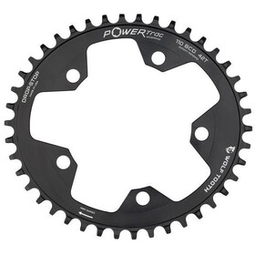 Wolf Tooth Elliptical Chainring Flat Top Ø110mm BCD black